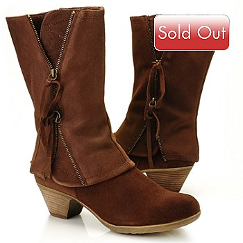 710-801 - Matisse® Suede Leather ''Swell'' Double Zippered Cuffed Boots