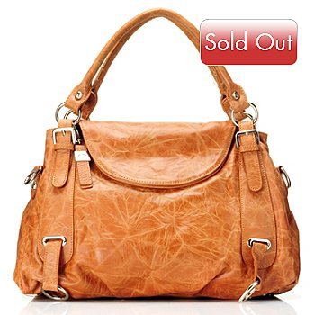 710-849 - B-Collective by Buxton® ''Sienna'' Fold-over Leather Tote Bag