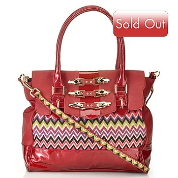 711-349 - Nicole Lee ''Sadona'' Chevron Print Double Handled Satchel