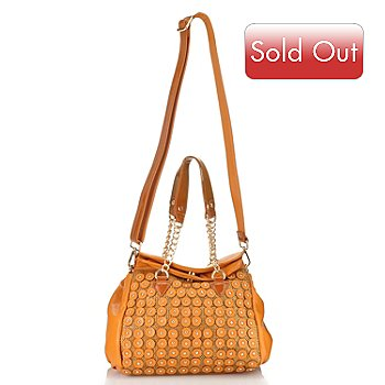 711-350 - Nicole Lee ''Sheila'' Studded Chain Detailed Fold Over Satchel