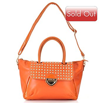 711-352 - Nicole Lee ''Yvonne'' Cone Studded Zip Top Shopper Handbag