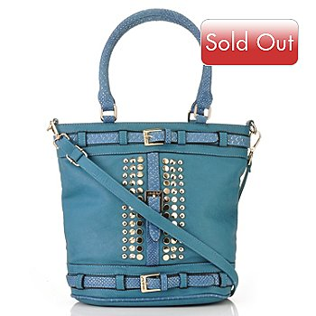 711-353 - Nicole Lee ''Lori'' Belted & Stud Detailed Shopper Handbag