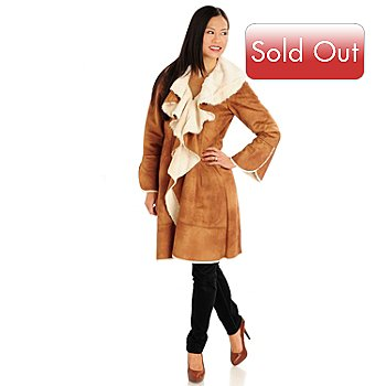 711-439 - Donna Salyers' Fabulous-Furs Ruffled Shearling Faux Fur Coat