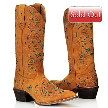 711-802 - Laredo® Leather ''Miranda'' Snip Toe Cut-out Western Boots
