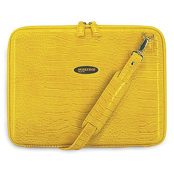 The Mobile Edge Small Faux Crocodile portfolio blends style and functionality making it such a trend-setter! It features a hard, protective nylon shell so your notebook won't get damaged from daily dr