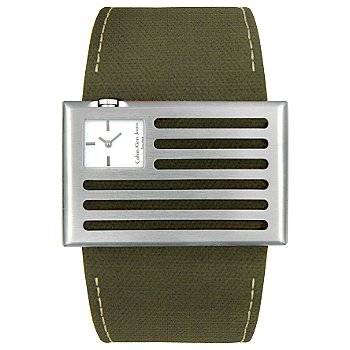 Calvin Klein Women's Banner Series Swiss Quartz Fabric Strap Watch