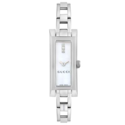 Gucci Women 39s 110 Series Diamond Accent Stainless Steel Bracelet Watch