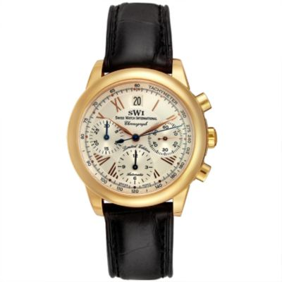 SWI Men's 18K Rose Gold Limited Edition Chronograph Alligator Strap Watch $ 5191.92