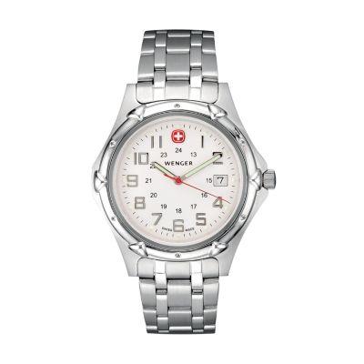 Wenger Men's Standard Issue XL Stainless Steel Bracelet Watch