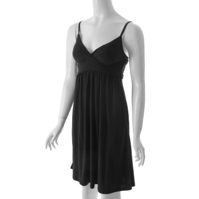 Ci Sono By Adi Designs Jersey Knit Empire Waist Dress. BLACK, L $ 26.99