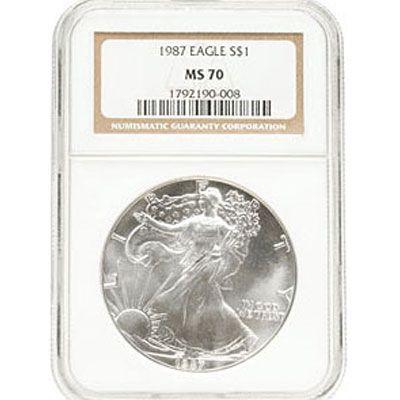 1987 Silver American Eagle MS70