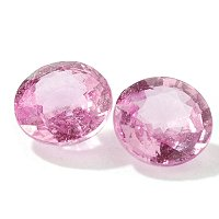 Set of Two Round Cut 4.5mm Pink Sapphires