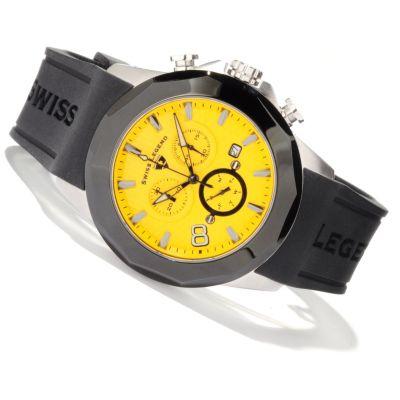Swiss Legend Men s Monte Carlo Swiss Quartz Chronograph Silicone Strap Watch