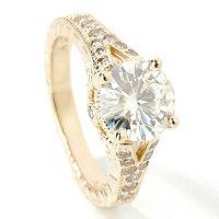 Moissanite & Diamond Ring