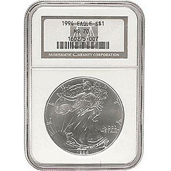 1994 Silver American Eagle MS70