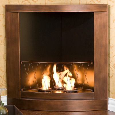 REAL FLAME ASHLEY WHITE GEL FIREPLACE | OVERSTOCK