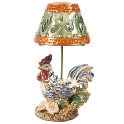 12' Hand-Painted Rooster Candle Lamp $ 28.00