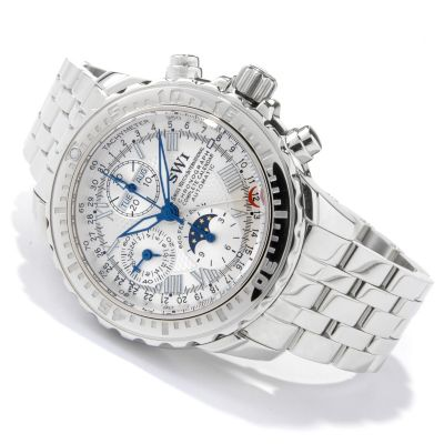 SWI Men's Limited Edition Automatic Stainless Steel Watch w/ Winder & Hat $ 2345.00