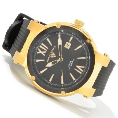 Swiss Legend Men's Legato Cirque Swiss Automatic Rubber Strap Watch $ 298.25
