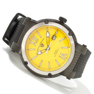 Swiss Legend Men's Legato Cirque Colorful Swiss Automatic Rubber Strap Watch $ 298.25