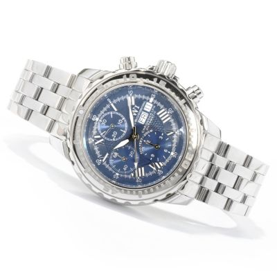 SWI Men's Limited Edition Automatic Chronograph Watch w/ Winder, Hat & Catalog $ 1810.00