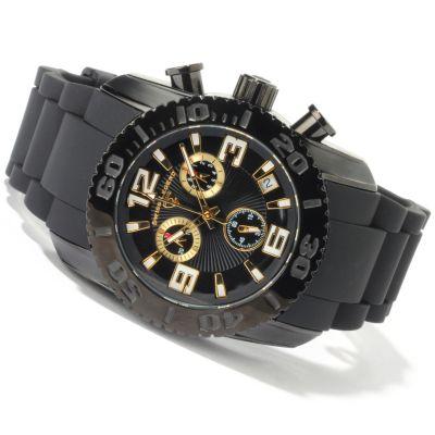 Swiss Legend Men's Commander Swiss Chronograph Rubber Strap Watch GOLDTONE